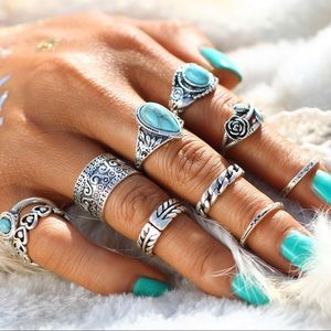 JUST IN - 10 Piece Boho Ring Set
